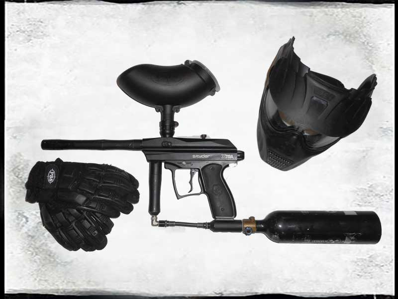 Paintball Radary - set Spyder xtr